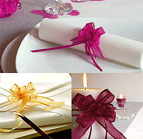 d couvrez des rubans tulles et noeuds pour la d coration de mariage blog of. Black Bedroom Furniture Sets. Home Design Ideas
