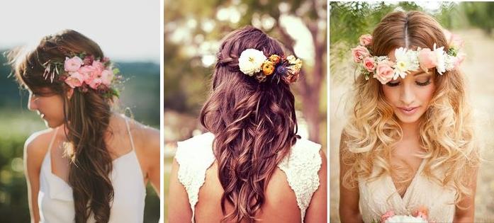 coiffure mariage cheveux longs fleurs. Black Bedroom Furniture Sets. Home Design Ideas