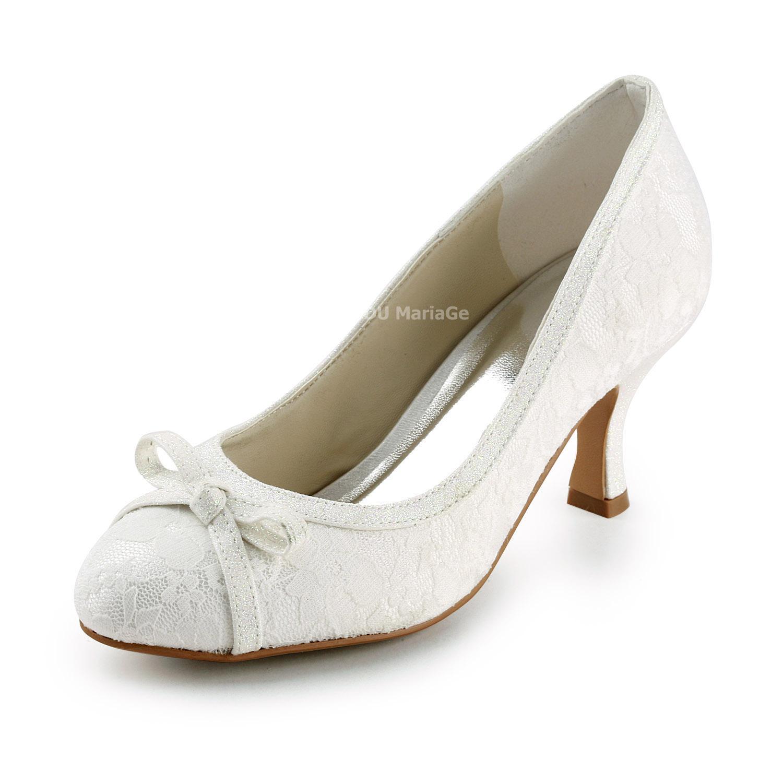 b7f25b493d2ede Chaussures De Mariée Dentelle Noeud Papillon Talon Haut Haut robe205035