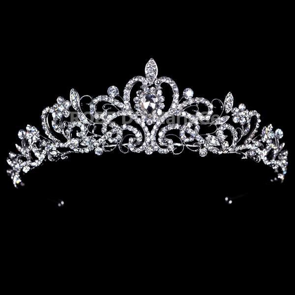 luxe brill diadme coiffe mariage strass tchque ziron - Diademe Mariage Pas Cher