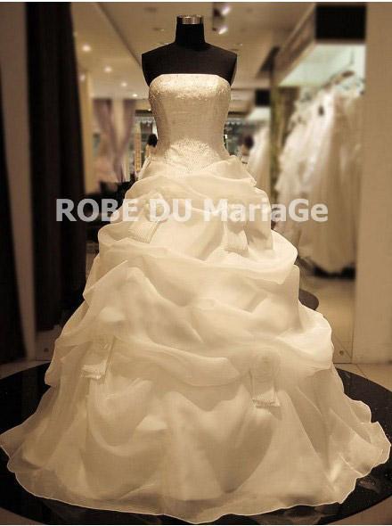 Robe bustier blanc jupe bouffante