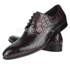 b6ca5fd1064 Motif pierre chunky talon chaussures homme en cuir