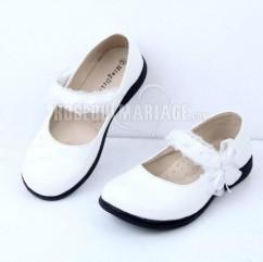 84a67eb72bab9 Princesse dentelle perle satin chaussures du mariage pour fille