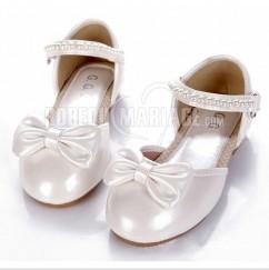 aeebf712290fb2 Nœud papillon perle chaussures de mariée pour fille chaussure pas cher