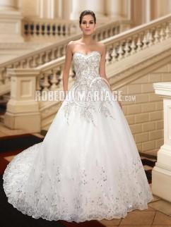 Robe de mariee princesse avec traine et strass