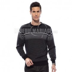 Pull homme en tissu laine col rond taille S