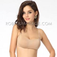 Soutien gorge bandeau pas cher sans armatures bretelles amovibles sous  vêtement femme 98ec49d0750