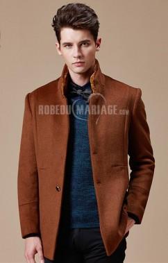 ad5e43dc153 Manteau homme moderne top vente col en laine