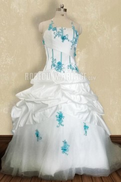 Robe mariee blanche bleu