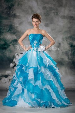 Robe turquoise et blanche pas cher