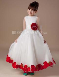 satin robe cortge enfant fleur col haut fleur magnifique - Robe Cortege Fille Mariage