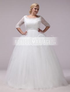 Robe mariage longue grande taille