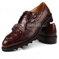 f9b46dc8ad1 Chaussure de marié en peau de vache à motif crocodile