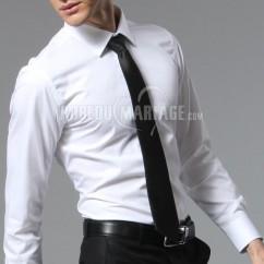 e6ca7384c4 Simple chemise d'affaires hommes élégant coton à manches longues