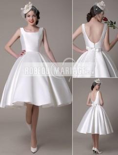 Robe de mariee classique courte
