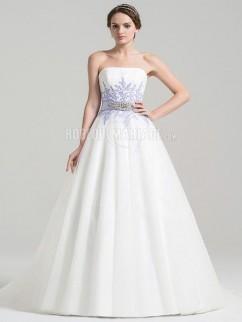 91c129e037c Robe de mariée bustier avec ruban robe ornée d appliques et de paillettes