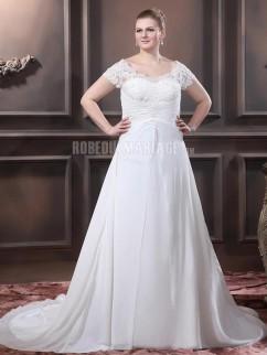 Robe de mariee boheme pour ronde