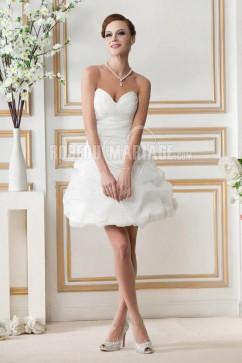 Robe de mariee noire et blanche courte