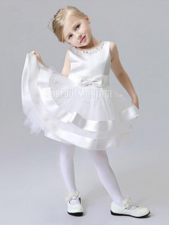 Robe fille princesee perles noeud papillon tulle