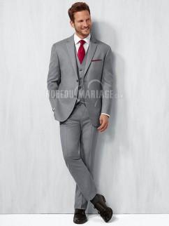 Costume homme mariage affaire 4 pièces sur mesure pas cher en satin