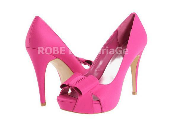 sandale chaussures femme avec bout ouvert orn e de n ud. Black Bedroom Furniture Sets. Home Design Ideas