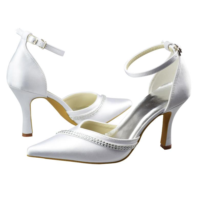 Chaussures de mari e bout pointu d coup e bride satin - Confection de coussin sur mesure ...