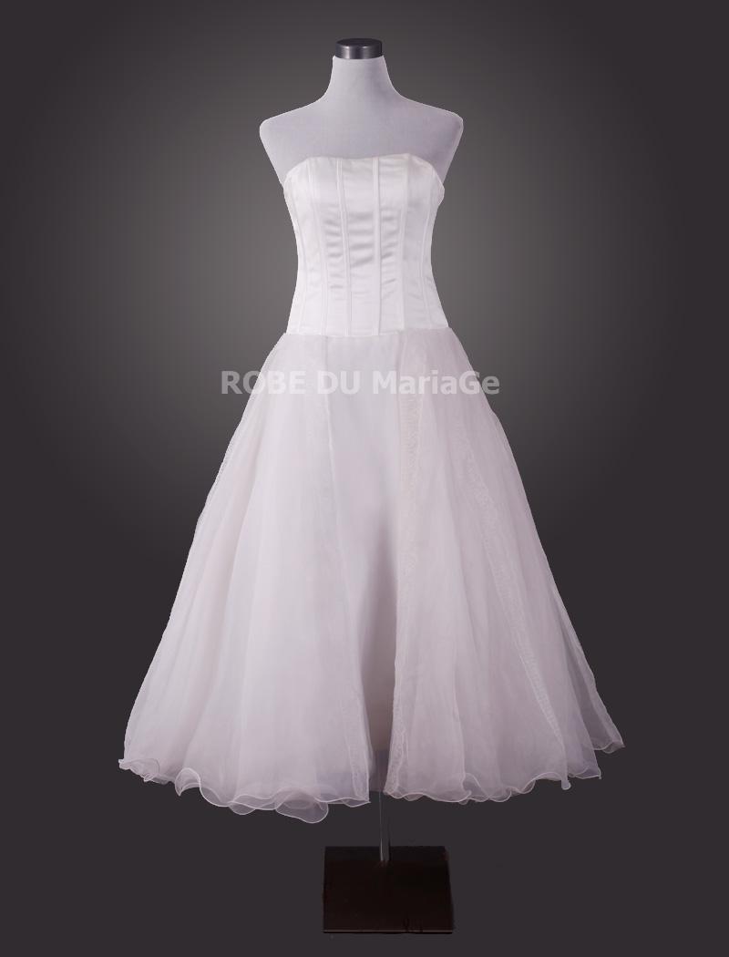 mariage > Robe de mariée civile > Robe pas chère de mariée simple ...