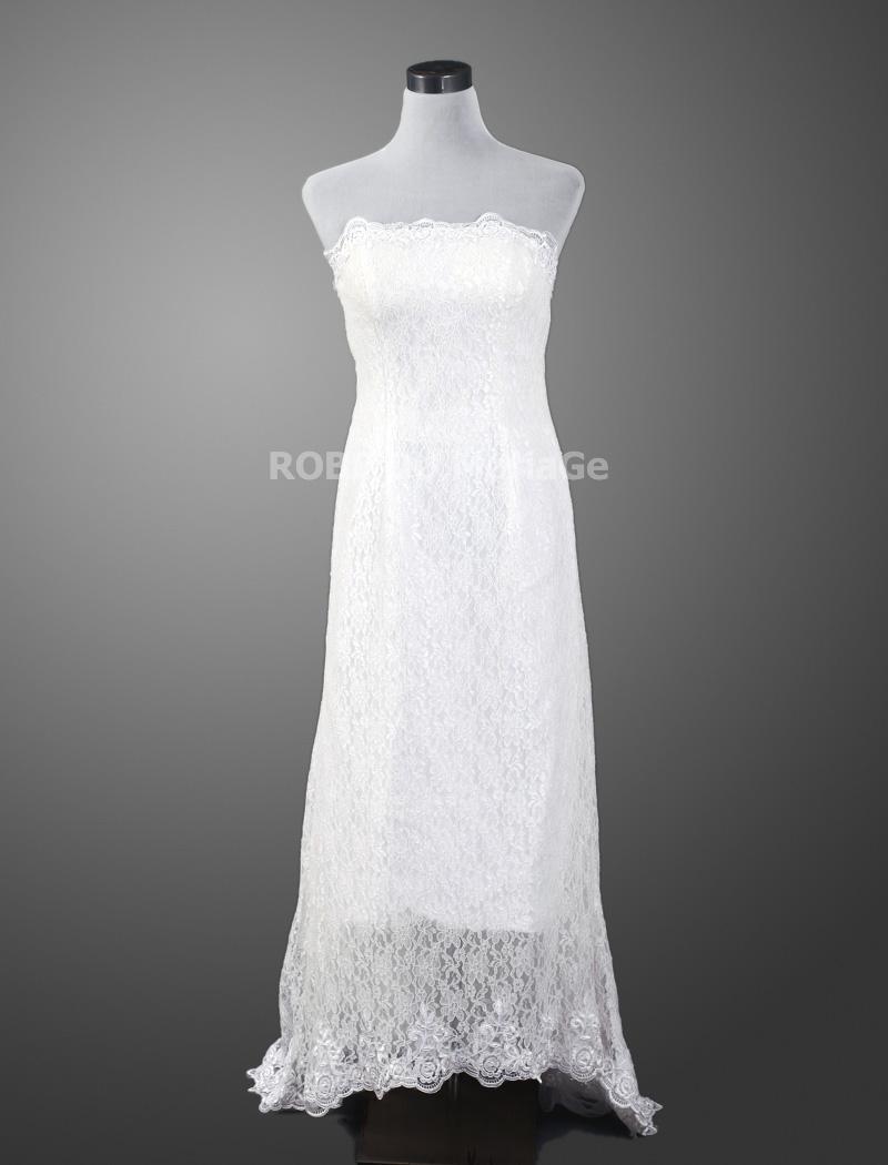 robe de mari e simple asym trique sans bretelle dentelle tra ne courte robe204225. Black Bedroom Furniture Sets. Home Design Ideas