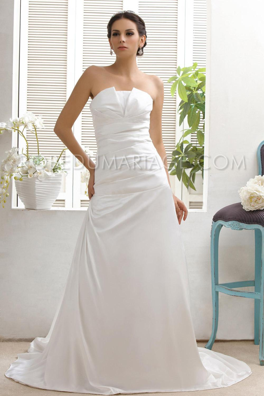 tout simple robe de mariage moderne fronc e tafeftas tra ne courte robe205941. Black Bedroom Furniture Sets. Home Design Ideas