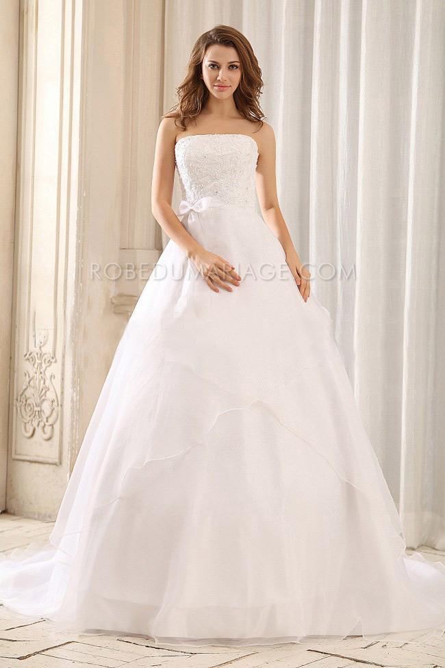 robe de mari e classique vas e broseries noeud organza