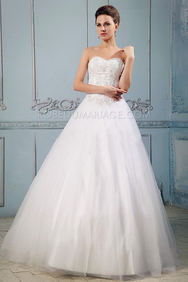 ... Robe de mariée princesse > Robe de mariée princesse bustier tulle