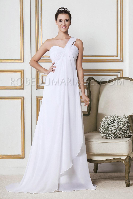 robe de mari e plage chiffon asym trique empire large bretelle robe205935. Black Bedroom Furniture Sets. Home Design Ideas