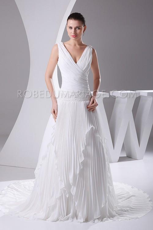 Robe fluide mariage grande taille