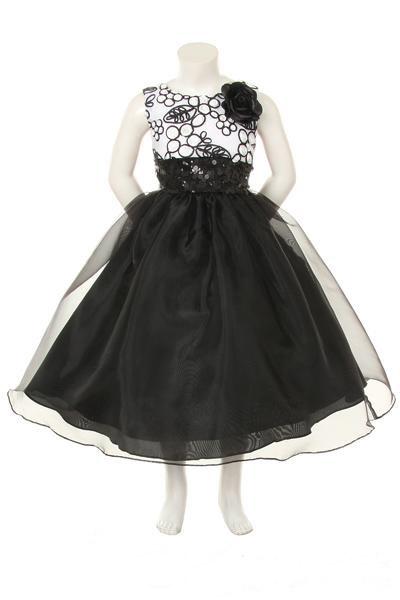 robe enfant pour mariage fleur organza col rond pas cher robe206279. Black Bedroom Furniture Sets. Home Design Ideas