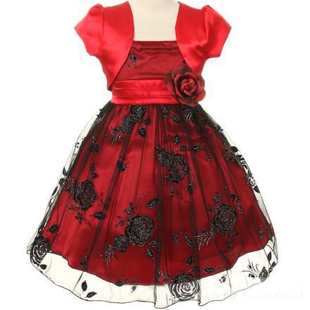 manches courtes robe ceremonie enfant fleurs satin noeud bolro - Bolero Fillette Pour Mariage