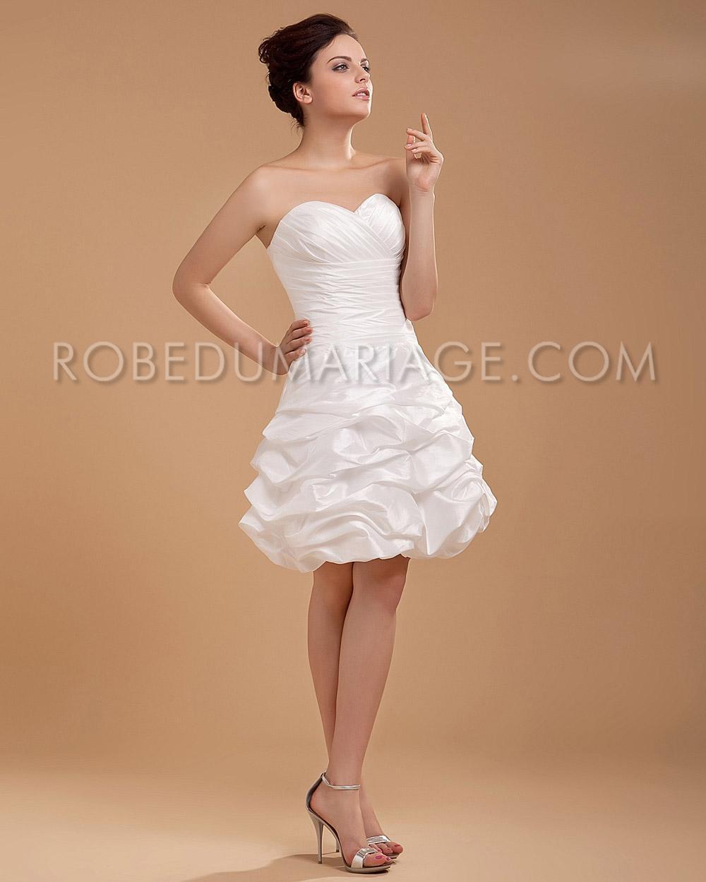 taffetas boule robe de mariage pas cher ruches robe206464. Black Bedroom Furniture Sets. Home Design Ideas