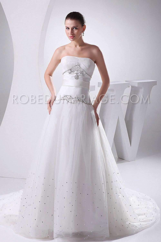 robe de mari e princesse perles a ligne tulle tra ne pas cher robe206103. Black Bedroom Furniture Sets. Home Design Ideas