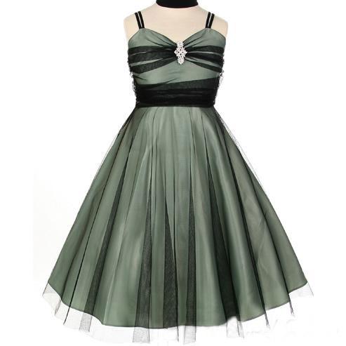 taffetas robe demoiselle d 39 honneur enfant ceinture pas cher robe206298. Black Bedroom Furniture Sets. Home Design Ideas