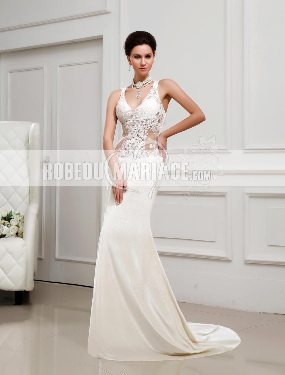 dentelle robe de mariage col en v taffetas pas cher chiffon empire robe206932. Black Bedroom Furniture Sets. Home Design Ideas