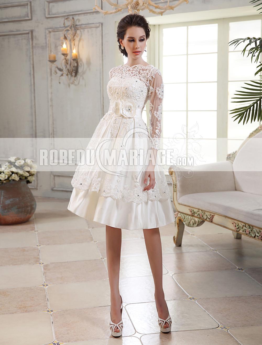 Manches longues robe de mariée magnifique A,ligne dentelle perles col trou  de serrure