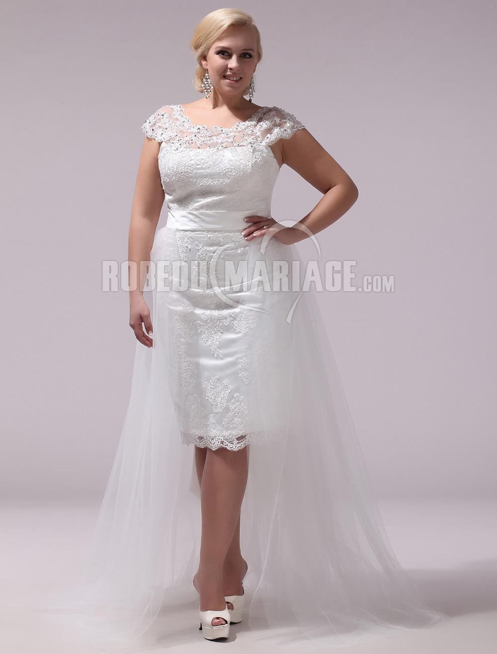 Robe mariee courte pour femme ronde