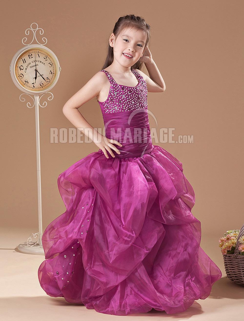 tulle col haut robe cort ge enfant pas cher satin paillette robe207850. Black Bedroom Furniture Sets. Home Design Ideas