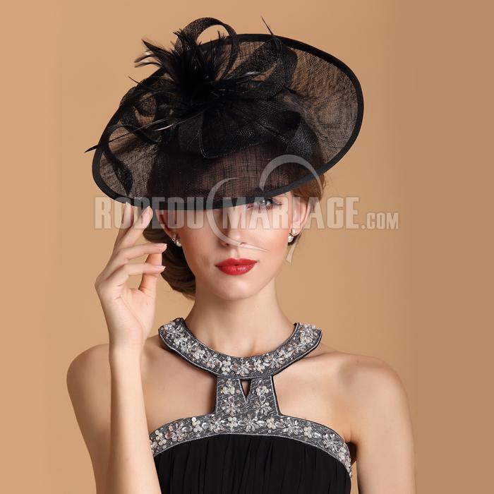 magnifique plumes chapeau de c r monie soir e robe208356. Black Bedroom Furniture Sets. Home Design Ideas