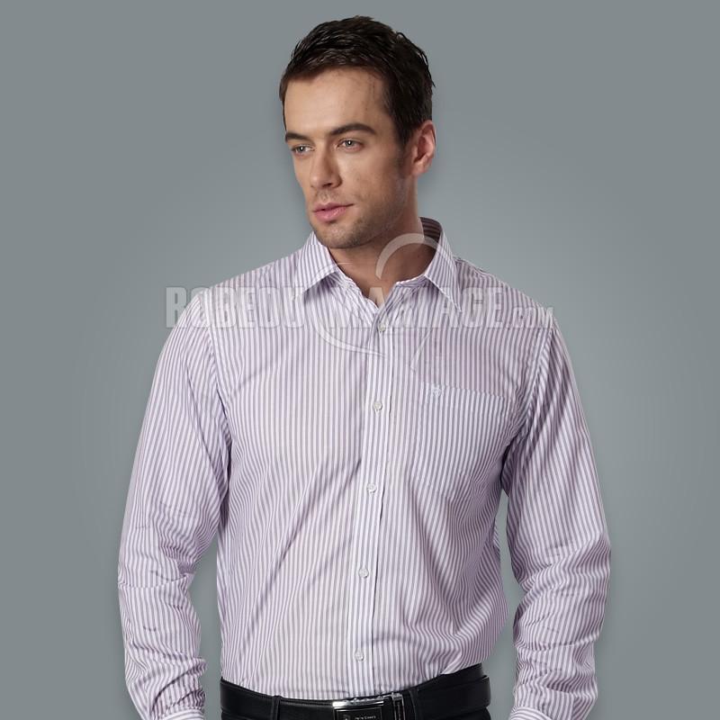 chemise homme pas cher coton avec bande manches longues robe208229. Black Bedroom Furniture Sets. Home Design Ideas
