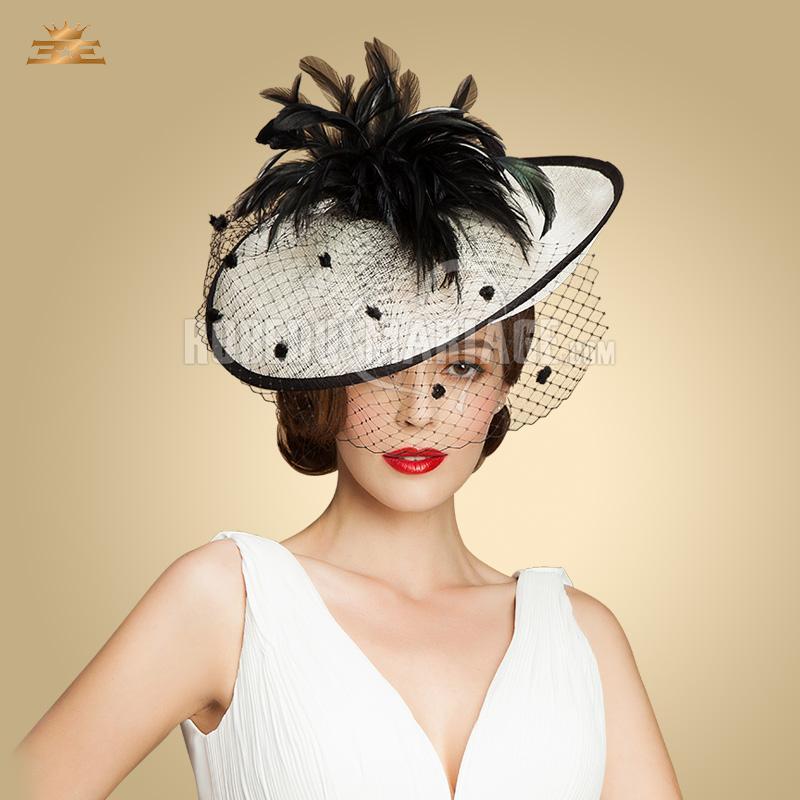 plume chapeau bibi organza pas cher robe208325. Black Bedroom Furniture Sets. Home Design Ideas