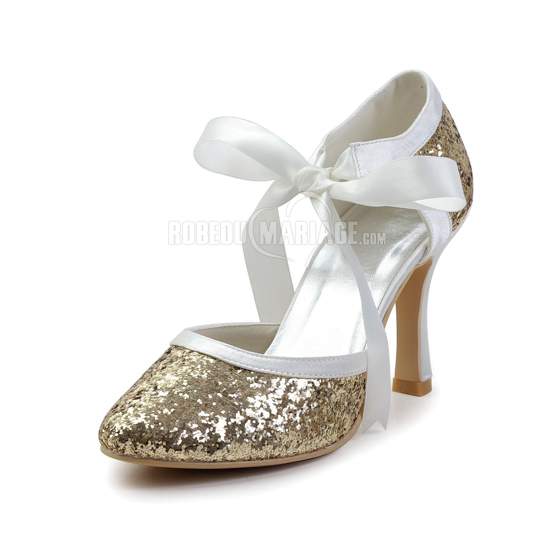 paillette applique chaussure de c r monie talon haut robe208428. Black Bedroom Furniture Sets. Home Design Ideas