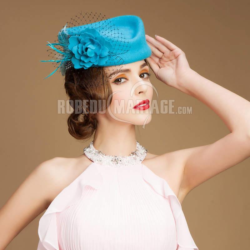 paris laine arc fleur chapeau bibi pas cher robe208396. Black Bedroom Furniture Sets. Home Design Ideas
