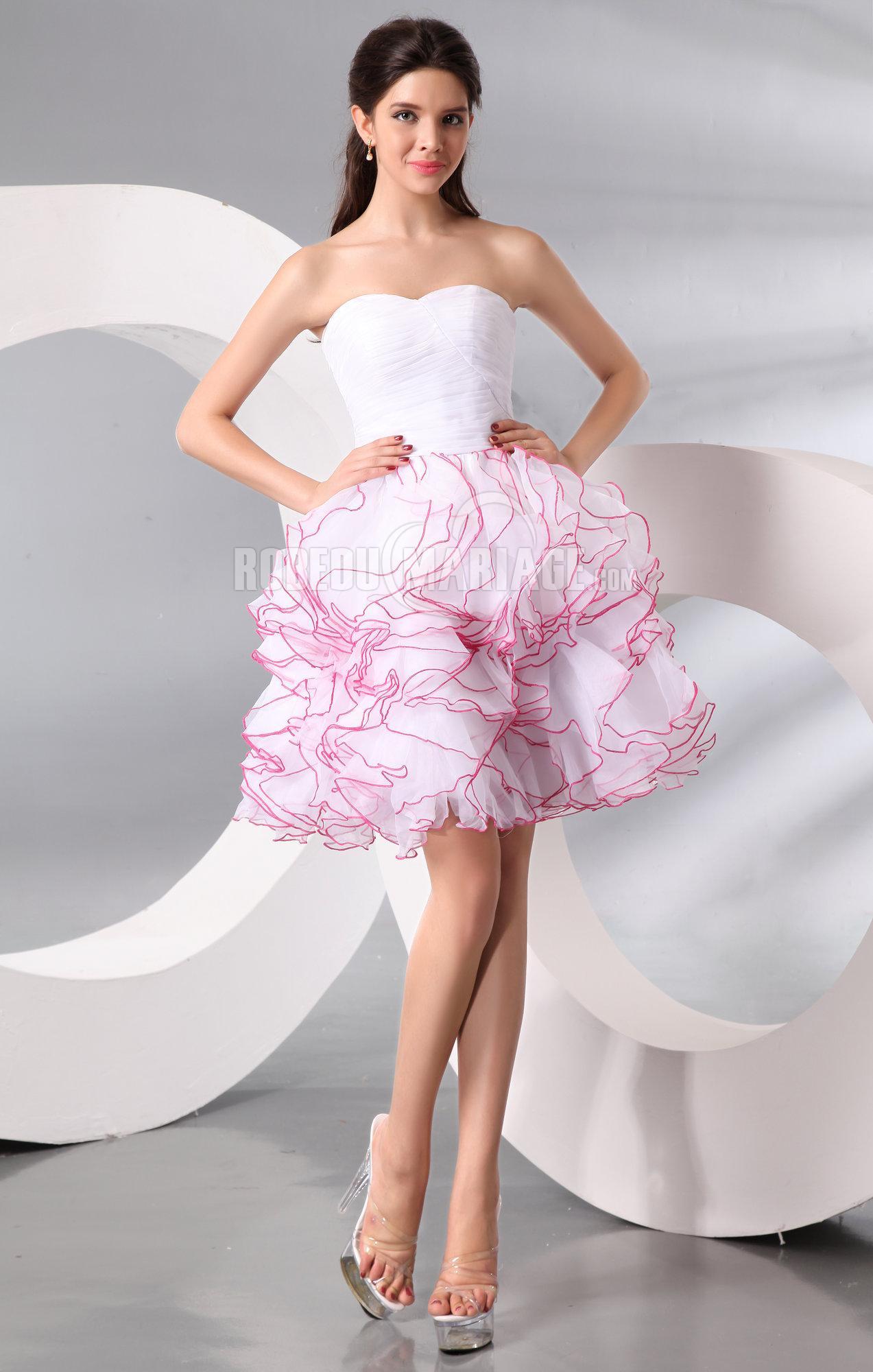 jupe simple bustier col en coeur robe de cocktail en organza robe208883. Black Bedroom Furniture Sets. Home Design Ideas