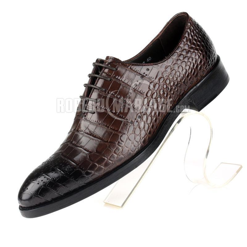 magasin d'usine 4e65b dc1b5 Motif crocodile chaussures homme magnifique en cuir ...