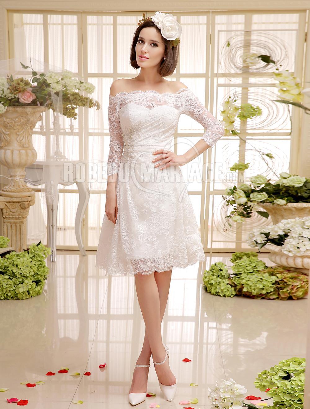 Robe de mariee semi longue